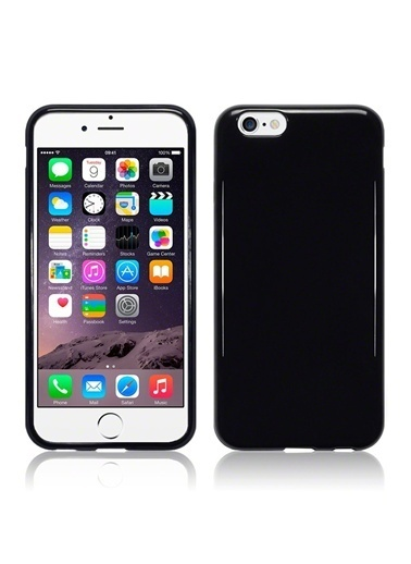 Microsonic Glossy Soft iPhone  6 (4.7'') Kılıf Siyah Renkli
